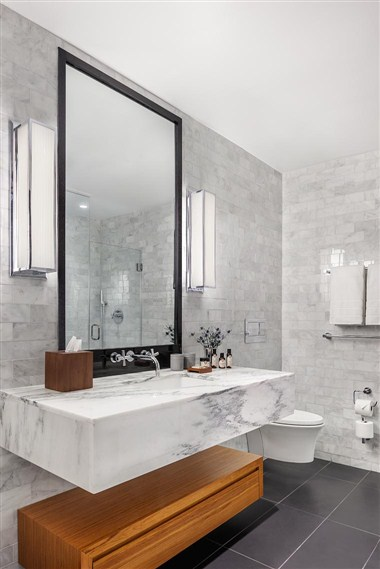Guest room bathroom elegance