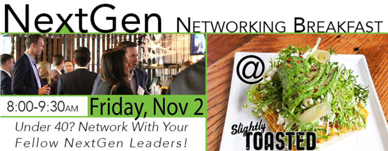 Nov. 2, 2018: NextGen - Breakfast Networking