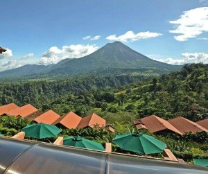 View of Arenal Volcano from the Lobby