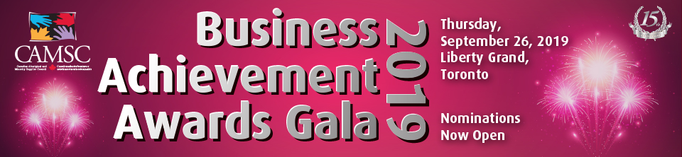 CAMSC Business Achievement Awards Gala 2019