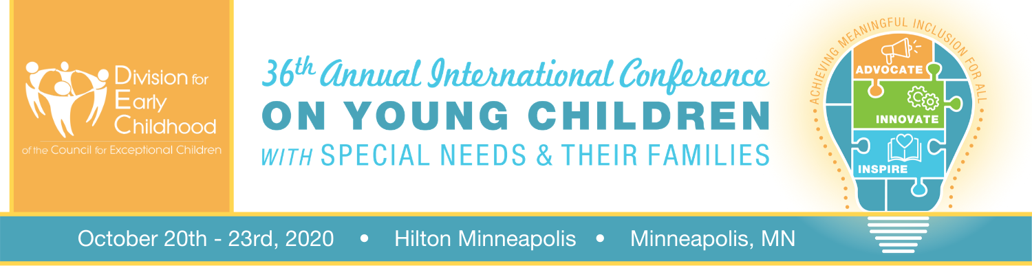 Division for Early Childhood's 36th Annual International Conference on Young Children with Special Needs and Their Families