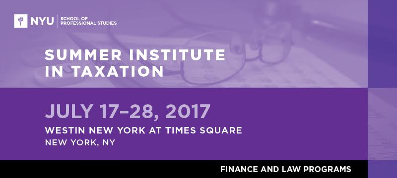 2017 Summer Institute in Taxation