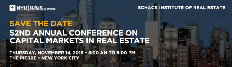 52nd Annual Conference on Capital Markets in Real Estate
