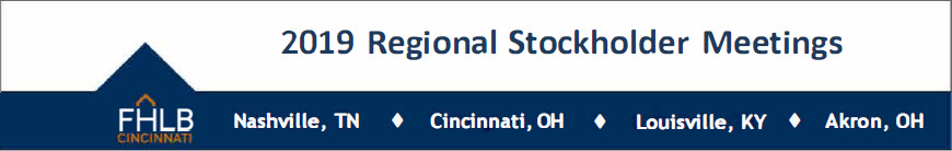 2019 Regional Stockholder Meetings
