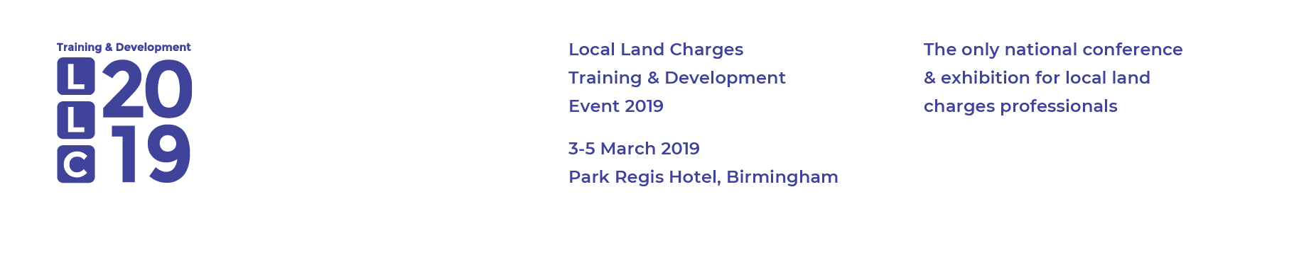2019 Local Land Charges Training & Development Event including the Land Data LLC Awards