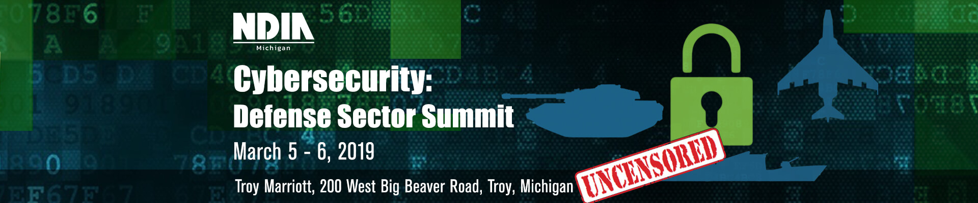 NDIA Michigan 2019 Cybersecurity: Defense Sector Summit