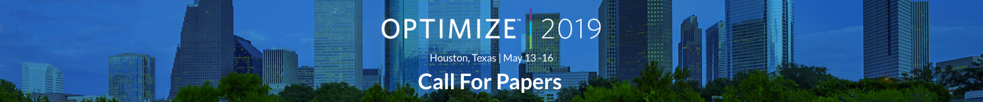 OPTIMIZE 2019 - Call for Papers