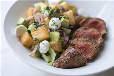 Bistro Filet and Cantaloupe Salad