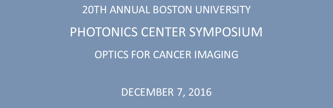 20th Annual Photonics Center Symposium
