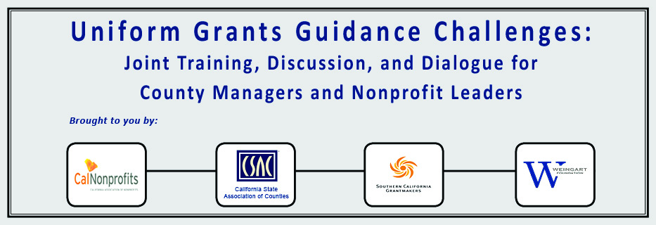 Uniform Grants Guidance Challenges: Joint Training, Discussion, and Dialogue for County Managers and Nonprofit Leaders