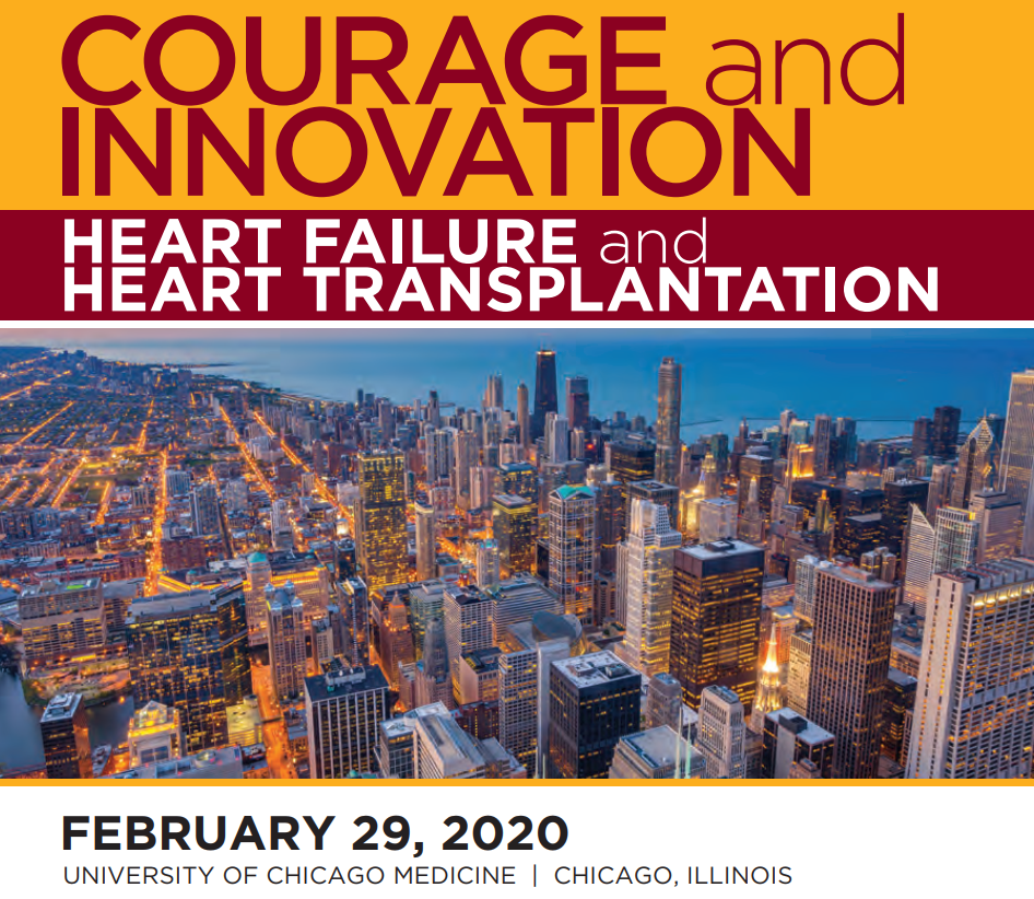 Courage and Innovation Symposium 2020 Heart Failure and Heart Transplantation
