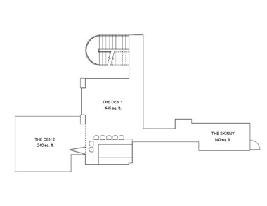 The Den 1&2 and The Skinny Floorplan