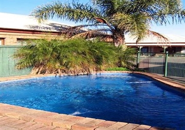Outdoor Pool in Garden Setting