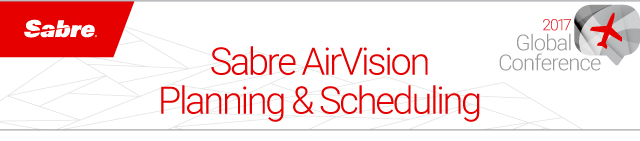 Sabre AirVision Planning & Scheduling Global Conference