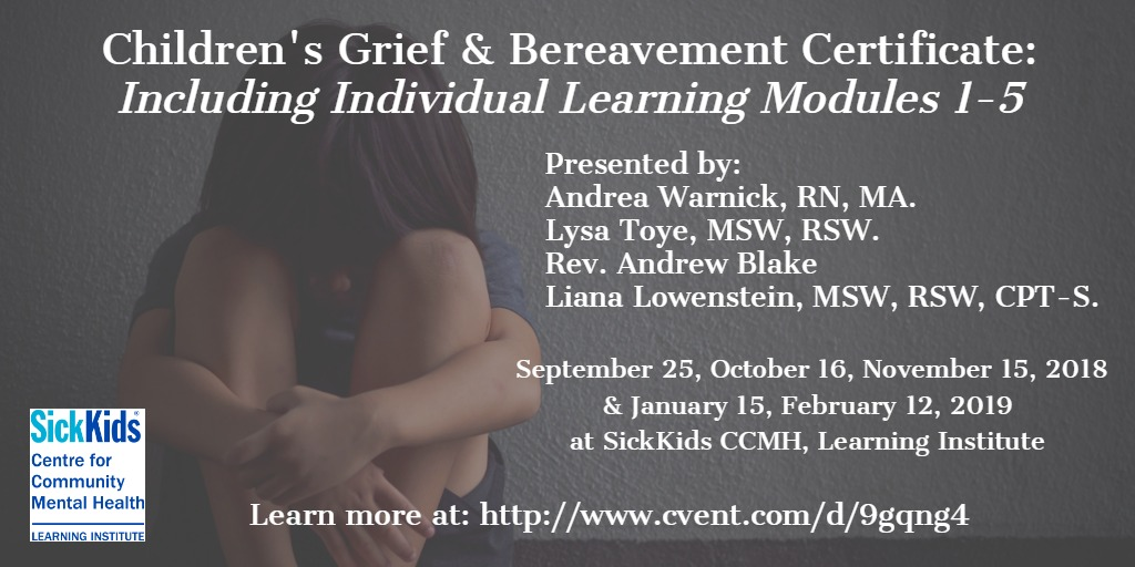 Children's Grief and Bereavement Certificate: Including Individual Learning Modules 1-5