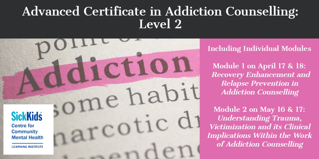 Advanced Certificate in Addiction Counselling: Level 2