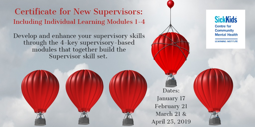 Certificate for New Supervisors: Develop and Enhance Your Supervisory Skills in the Health and Human Service Sector