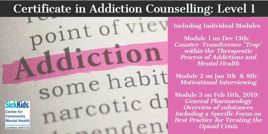 Certificate in Addiction Counselling: Level 1