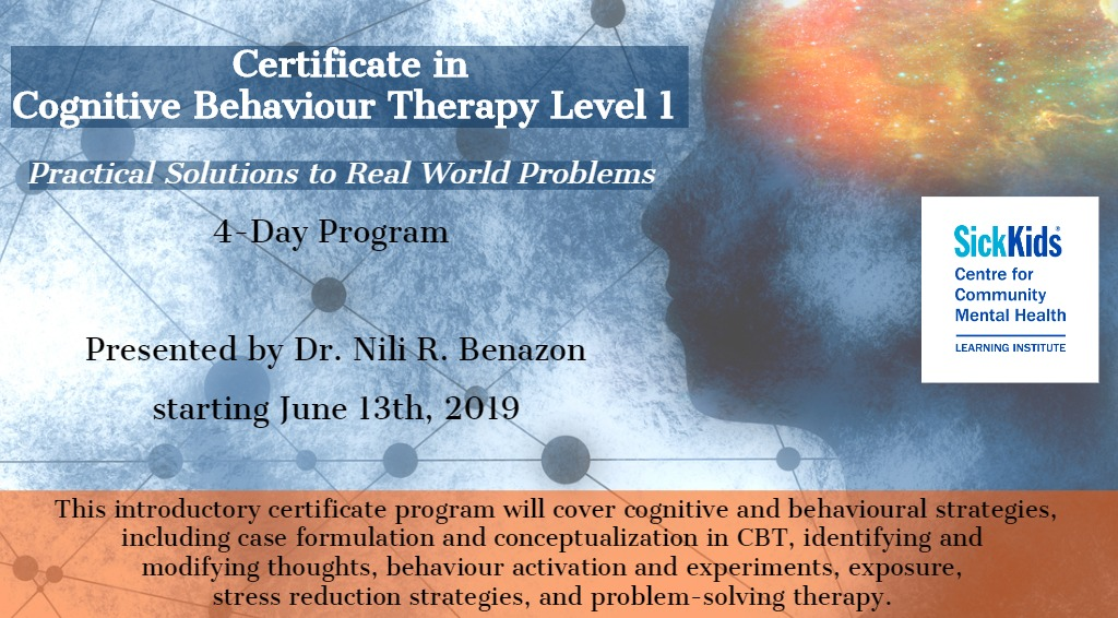 Certificate in Cognitive Behaviour Therapy Level 1