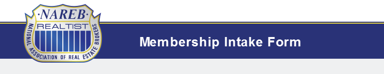 Membership Intake Form Header