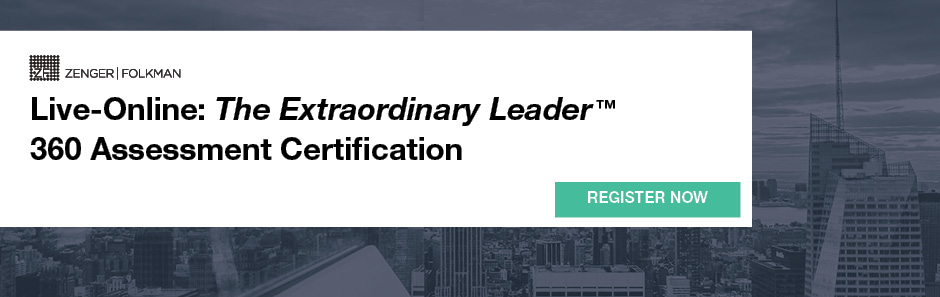 The Live Online Extraordinary Leader  360 Assessment Certification, May 6 & 7, 2020
