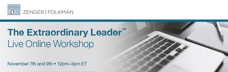 The Extraordinary Leader™ Live Online Workshop, November 7th & 9th, 2017