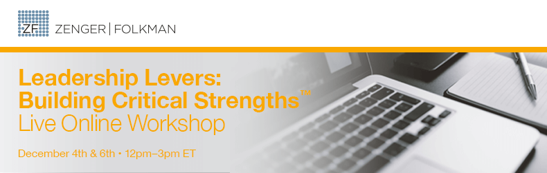 Leadership Levers: Building Critical Strengths™ Live Online Workshop, December 4 & 6, 2017