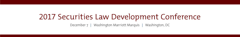 2017 Securities Law Development Conference Sponsorship