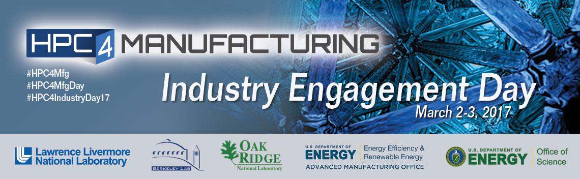 HPC4Mfg Industry Engagement Day