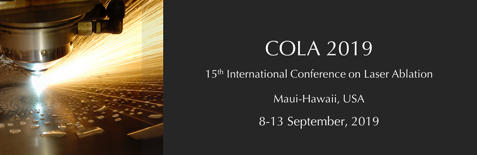 International Conference on Laser Ablation (COLA) 2019