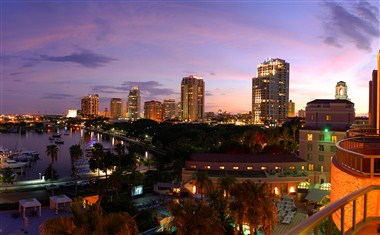 Downtown St. Pete Skyline from Vinoy Renaissance