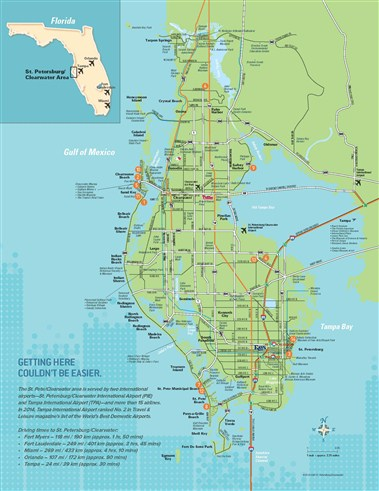 St. Pete/Clearwater Area Map