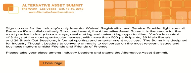 Alternative Asset Summit 2012