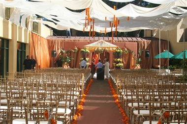 Courtyard Ethnic Wedding Ceremony