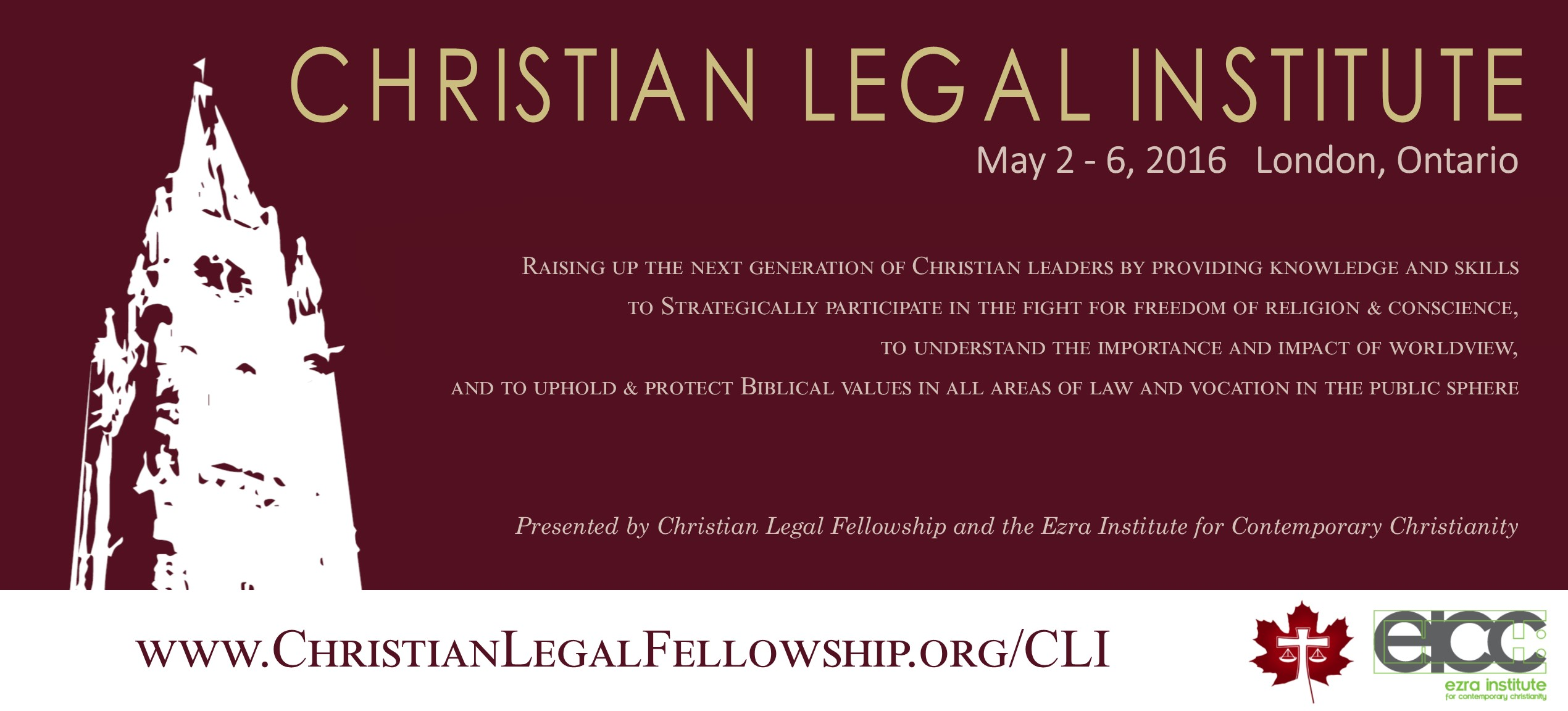 2016 Christian Legal Institute