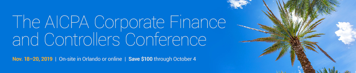 2019 AICPA Corporate Finance and Controllers Conference  - Group Sales