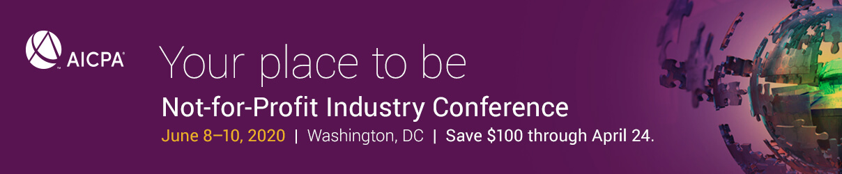 2020 AICPA Not-for-Profit Industry Conference - Group Sales
