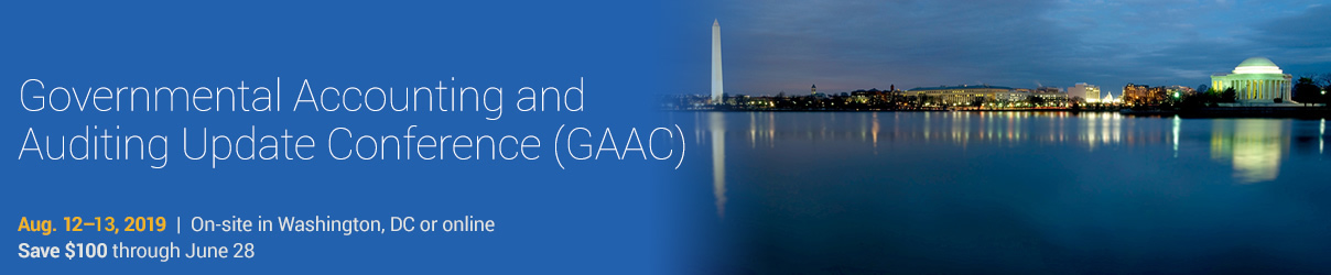 2019 Governmental Accounting and Auditing Update Conference - Group Sales