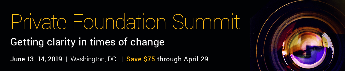 2019 Private Foundation Summit - Group Sales