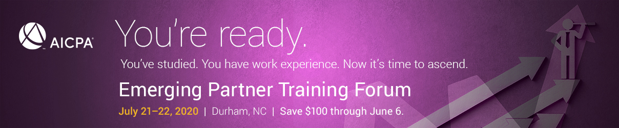2020 AICPA Emerging Partner Training Forum - Group Sales