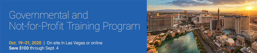 2020 AICPA  Governmental and Not-for-Profit Training Program Conference - Group Sales