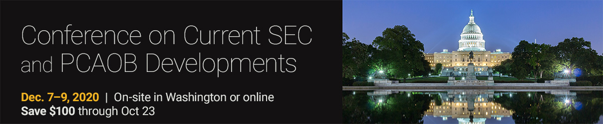 2020 AICPA Conference on Current SEC and PCAOB Developments (NY Simulcast) - Group Sales