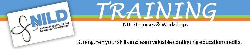 NILD Courses banner
