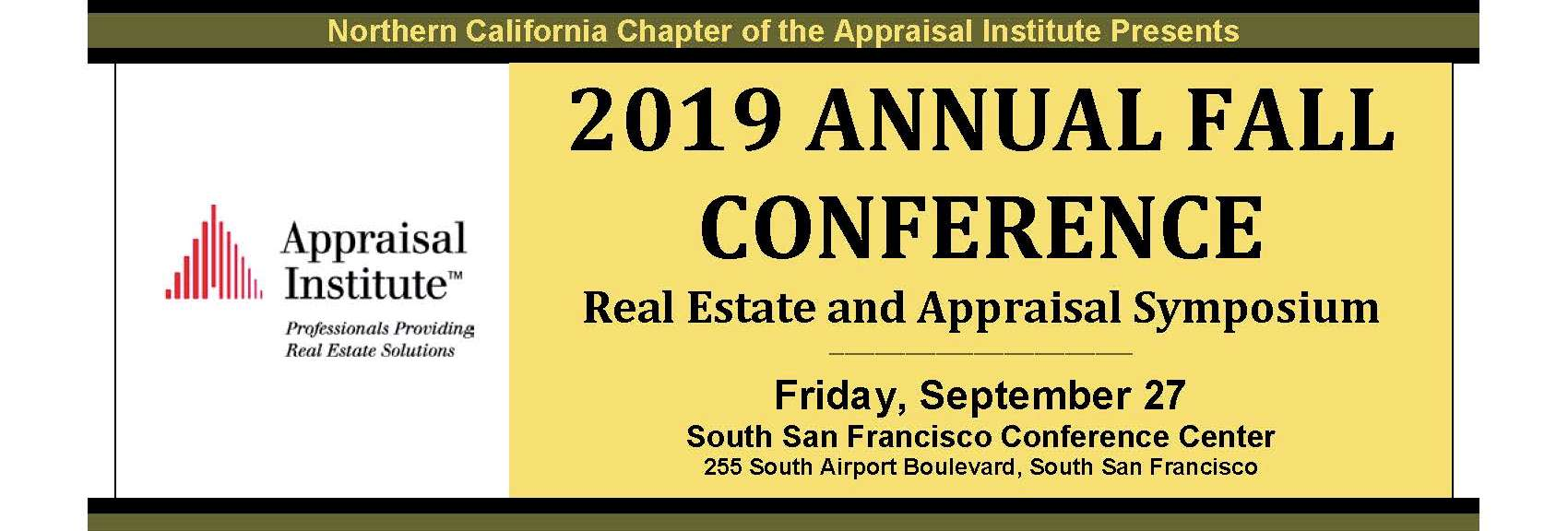 2019 Annual Fall Conference: Real Estate and Appraisal Symposium
