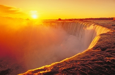 Niagra Falls At Sunset