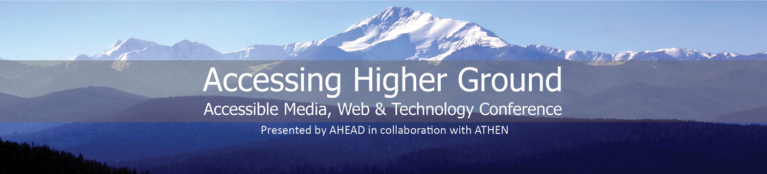 Accessing Higher Ground 2018, November 12 - 16, 2018, Westminster, CO