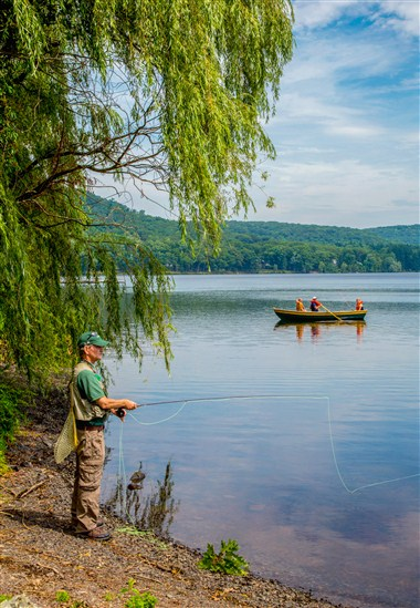 Fly Fishing on Skytop Lake