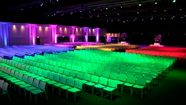 Colored theater set-up Event Hall