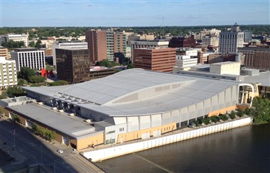 Devos Place aerial view