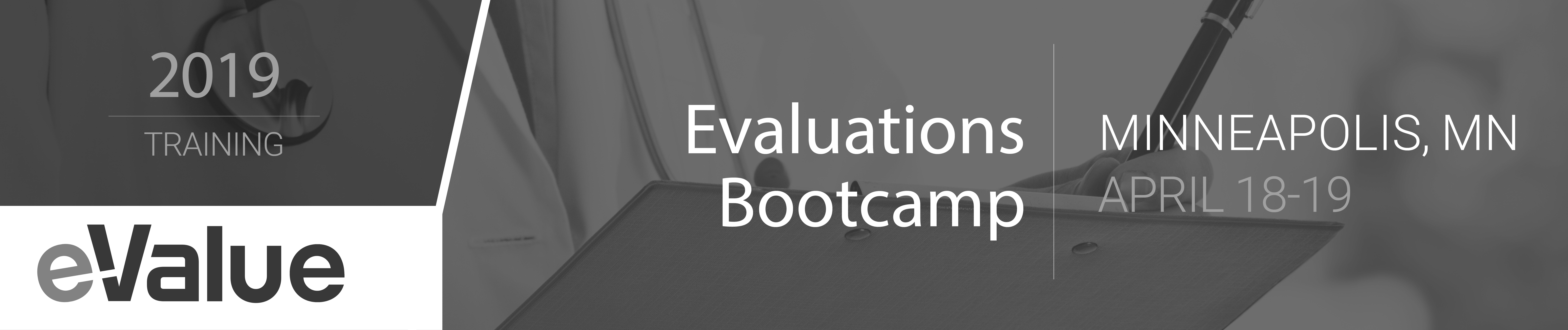 eValue Evaluations Bootcamp (April 18-19)